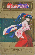 Télécarte DOREE Japon / 110-016 - MANGA - SEGA SAKURA WARS - ARTTELE COLLECTION Nr 1746 - Japan GOLD Phonecard - 10204 - Comics