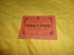 CARTE TEMOIGNAGE DE SATISFACTION..DE 1932. / ECOLE COMMUNALE DE FILLES RUE NATIONALE. VILLE DU HAVRE. - Diplômes & Bulletins Scolaires