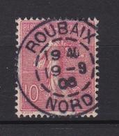 FRANCE Timbre Types Semeuse Lignée N° 129°  (belle Oblitération ROUBAIX) - France