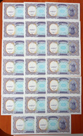 Egypt 10 Piastres 1999 UNC X 20 Banknotes With Same S/numbers 000317 3rd Series Р-189 - Egypte