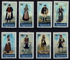 Jugoslawien Yugoslavia 1986 - Trachten - MiNr 2159-2166 - Kostüme