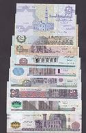 Egypt Banknote Set With Same Low Number 0000028 2008/2015 UNC - Egypte