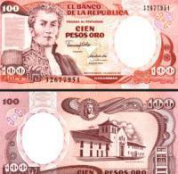 Colombia #426A, 100 Pesos Oro, 1991, UNC - Colombie