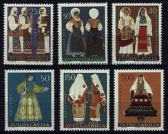 Jugoslawien Yugoslavia 1964 - Trachten - MiNr 1085-1090 - Kostüme