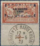 FRANCE Exposition Du Havre 1927 N°257A Neuf Obliteration Hors Timbre Croix De Repere, Mais Défauts ... Signé Calves - France