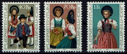 Liechtenstein 1977 - Liechtensteiner Trachten - MiNr 684-686 - Kostüme
