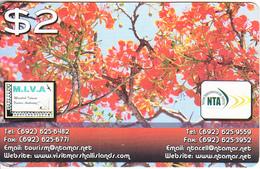 MARSHALL ISLANDS - Trees, NTA Prepaid Card $2, Exp.date 30/09/17, Used - Marshall