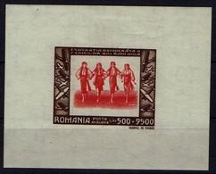 Rumänien Romana 1946 - Trachten - Mädchentanzgruppe - MiNr Block 35 (1018) - Kostüme