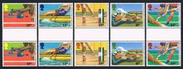 Great Britain 1149-1153 Gutter,MNH.Michel 1076-1080. Commonwealth Games 1986. - 1952-.... (Elizabeth II)
