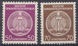 GERMANIA DDR - 1958/1959 - Lotto 2 Valori Nuovi MNH - Servizio Yvert 50G E 51 - DDR