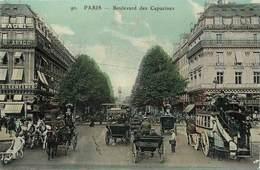 """/ CPA FRANCE 75002 """"Paris, Le Bld Des Capucines"""" - Arrondissement: 02"""