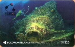 Solomon Island - SOL-03, GPT, 01SDB, Tao Maru Wreck, Tank, Sea, 20 SI$, 1992, Used - Solomoneilanden