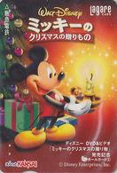 Carte Prépayée Japon DISNEY - Série DVD 2/6 - MICKEY NOEL Bougie Sapin - CHRISTMAS Japan Prepaid Lagare Card - Disney