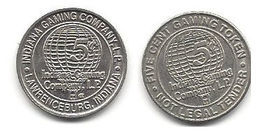 Indiana Gaming Company Lawrenceburg IN 5 Cent Gaming Token - Casino