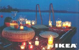 IKEA * FURNITURE STORE * SWEDEN * SWEDISH * CANDLE * LAKE * Ikea 2009 01 Hu A * Hungary - Gift Cards