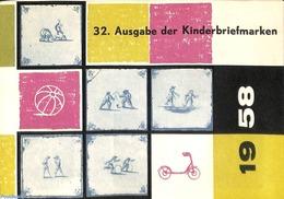 Philatelic Folders 1958 Original Dutch Promotional Folder From 1958, Child Welfare, German Language, (Mint NH), Toys & C - Unclassified