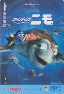 Carte Prépayée Japon DISNEY - Série Logo 2/6 - TORTUE NEMO / Cinema Film Movie - TURTLE Japan Prepaid Lagare Card - Disney