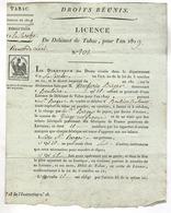 BOULOIRE, Dept. De La Sarthe ,France   LICENCE  De Débitant De Tabac  1809  !! - Decrees & Laws