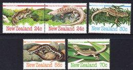 NEW ZEALAND, 1984 REPTILES/AMPHIBIANS 5 MNH - Nouvelle-Zélande