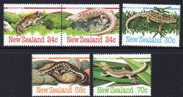 NEW ZEALAND, 1984 REPTILES/AMPHIBIANS 5 MNH - New Zealand