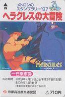 Carte Prépayée Ancienne Japon - DISNEY - HERCULES 1 - Japan Prepaid Movie Metro Card - Disney
