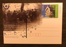 POLAND 2014 Postal Stationery PSC Stork Birds Tit Mint - Birds