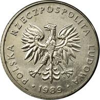 Monnaie, Pologne, 20 Zlotych, 1989, Warsaw, TB+, Copper-nickel, KM:153.2 - Pologne