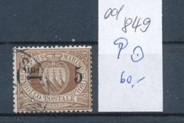 San Marino Nr. 9  O    (ed849  ) Siehe Scan - Oblitérés