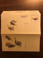 SOUTH AFRICA Postal Stationery Aerogramme Birds Guinea Fowl Mint - Birds