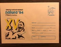 ROMANIA 1994  Postal Stationery PSE Birds Kingfisher Mint - Birds
