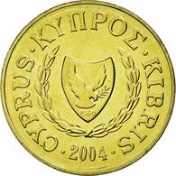 Monnaie, Chypre, 2 Cents, 2004, SPL, Nickel-brass, KM:54.3 - Chypre