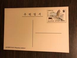 KOREA 2009 Postal Stationery PSC Birds Spoonbill WWF Mint - Birds