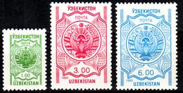 Uzbekistan, 1995, Coat Of Arms, Set, MNH, Mi# 57/59 - Ouzbékistan