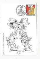 Carte Maximum , 5 E Festival De La Bandes Dessinée Et De Dessin D'humour , 86 ,Roches-Premarie ,UPTT , 1989 - Maximumkarten