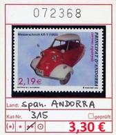 Span. Andorra - Andorra Espan. - Andorre Espan. - Michel 315 - ** Mnh Neuf Postfris - Neufs