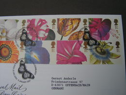 GB FDC 1997 Grußmarken Blumen 1667-1676 - FDC
