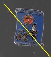 Pin's VILLE ASNIERES.POLICE D'ASNIERES BRIGADE DE NUIT PAR PIN'UP......BT3 - Police