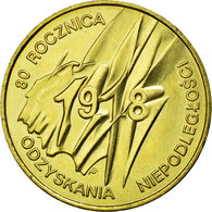 Monnaie, Pologne, 80th Anniversary - Polish Independence, 2 Zlote, 1998, Warsaw - Pologne