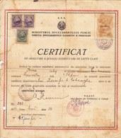 Romania, 1950, Vintage Graduation Certificate / Diploma - Cateasca, Grivita - Diplômes & Bulletins Scolaires