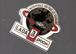 Pin's ARTHUS BERTRAND.L'AUTOMOBILE SUR TOUS LES TERRAINS.LADA POCH.....BT3 - Arthus Bertrand