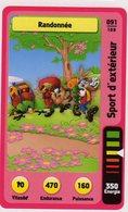 Trading Card Carte Auchan La Fete Du Sport 2014 Verso Domino Tex Avery N° 91 - Trading Cards