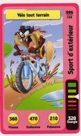 Trading Card Carte Auchan La Fete Du Sport 2014 Verso Domino Tex Avery N° 86 - Non Classificati