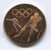 OLYMPIC OLYMPIADE COMMITTEE - INNSBRUCK AUSTRIA 1976, FAST SKATING, MEDAL, D 35 Mm - Apparel, Souvenirs & Other