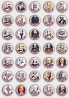 35 X Writer Gustave Flaubert ART BADGE BUTTON PIN SET  (1inch/25mm Diameter) - Celebrities