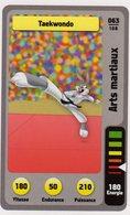 Trading Card Carte Auchan La Fete Du Sport 2014 Verso Domino Tex Avery N° 63 - Trading Cards