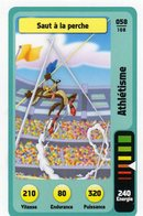 Trading Card Carte Auchan La Fete Du Sport 2014 Verso Domino Tex Avery N° 58 - Trading Cards