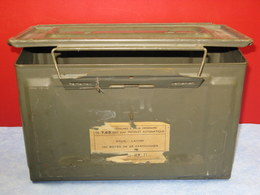 Ancienne Caisse De Munition Armée Française Déco Militaire Vintage - Equipment