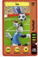 Trading Card Carte Auchan La Fete Du Sport 2014 Verso Domino Tex Avery N° 8 - Non Classificati