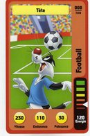 Trading Card Carte Auchan La Fete Du Sport 2014 Verso Domino Tex Avery N° 8 - Trading Cards