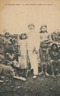 Iquitos Peru  Un Explorador Entre Los Indios . White Explorer Among Nude Indians  Edit Lira Y Gil Iquitos - Peru